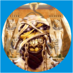 IRON MAIDEN-13 METAL BUTON ROZET 44 MM- METAL BUTTON BADGE - 44 MM