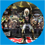 IRON MAIDEN-15 METAL BUTON ROZET 44 MM- METAL BUTTON BADGE - 44 MM