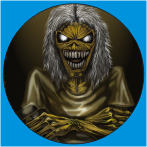 IRON MAIDEN-18 METAL BUTON ROZET 44 MM- METAL BUTTON BADGE - 44 MM