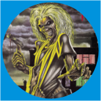 IRON MAIDEN-20 METAL BUTON ROZET 44 MM- METAL BUTTON BADGE - 44 MM