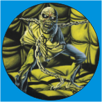 IRON MAIDEN-21 METAL BUTON ROZET 44 MM- METAL BUTTON BADGE - 44 MM