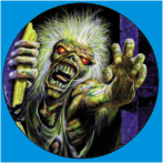 IRON MAIDEN-25 METAL BUTON ROZET 44 MM- METAL BUTTON BADGE - 44 MM